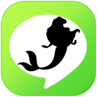 iOS LINE theme -  LittleMermaid icon
