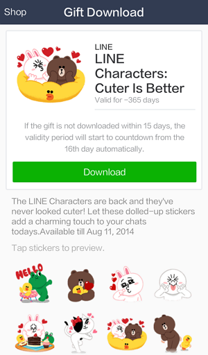 how to buy line stickers from another country
