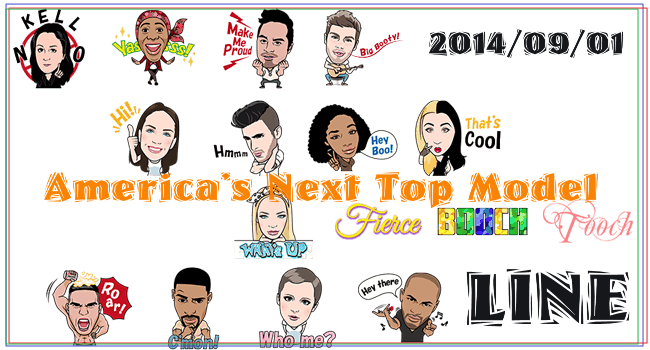 America's Next Top Model-20140901-LINE STICKER