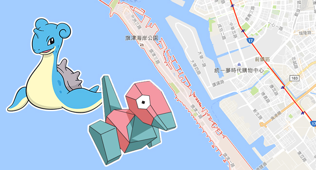 寶可夢-高雄旗津-3d龍
